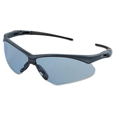 Nemesis Safety Glasses, Blue Frame, Light Blue Lens
