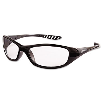 V40 HellRaiser Safety Glasses, Black Frame, Clear Lens
