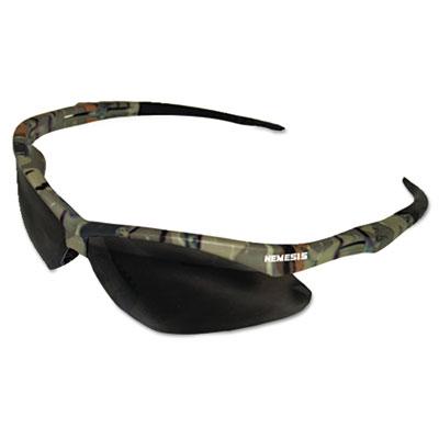 Nemesis Safety Glasses, Camo Frame, Smoke Anti-Fog Lens
