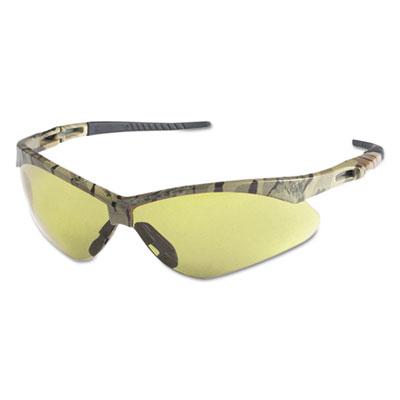 Nemesis Safety Glasses, Camo Frame, Amber Anti-Fog Lens