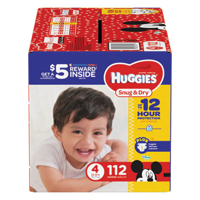Snug and Dry Diapers, Size 4, 22 lb to 37 lb, 112/Pack