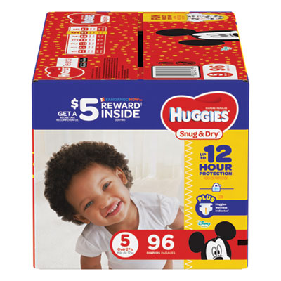 Snug and Dry Diapers, Size 5, 27 lb to 35 lb, 96/Pack