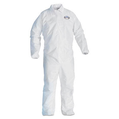 A40 Elastic-Cuff and Ankles Coveralls, 4X-Large, White, 25/Carton