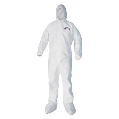 A40 Elastic-Cuff, Ankle, Hood & Boot Coveralls, White, 3X-Large, 25/Carton