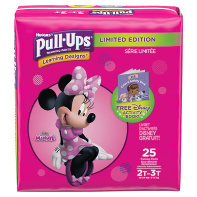 Pull-Ups Learning Designs Potty Training Pants for Girls, Size 2T-3T, 25/Pack