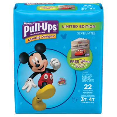Pull-Ups Learning Designs Potty Training Pants for Boys, Size 3T-4T, 22/Pack