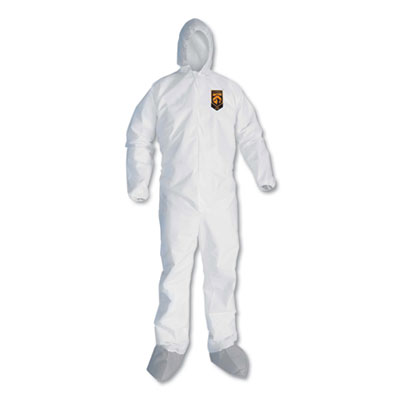 A45 Liquid and Particle Protection Surface Prep/Paint Coveralls, Large, 25/CT