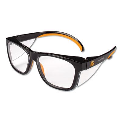 Maverick Safety Glasses, Black/Orange, Polycarbonate Frame