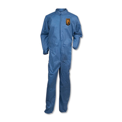 A20 Coveralls, MICROFORCE Barrier SMS Fabric, Blue, 2X-Large, 24/Carton