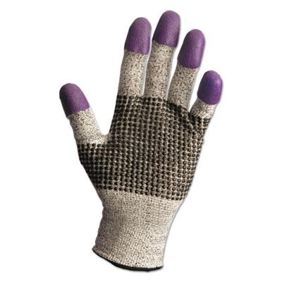 G60 Purple Nitrile Gloves, Medium/Size 8, Black/White, Pair