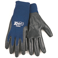 Kinco 1890 High Dexterity Work Gloves, Men's, Large, Synthetic, Navy Blue/Gray, Unlined Lining