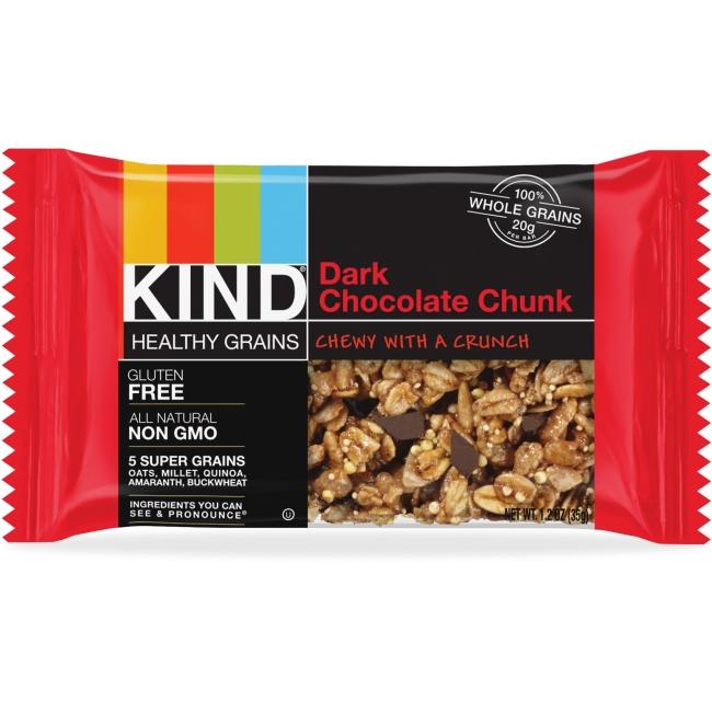 Healthy Grains Bar, Dark Chocolate Chunk, 1.2 oz, 12/Box
