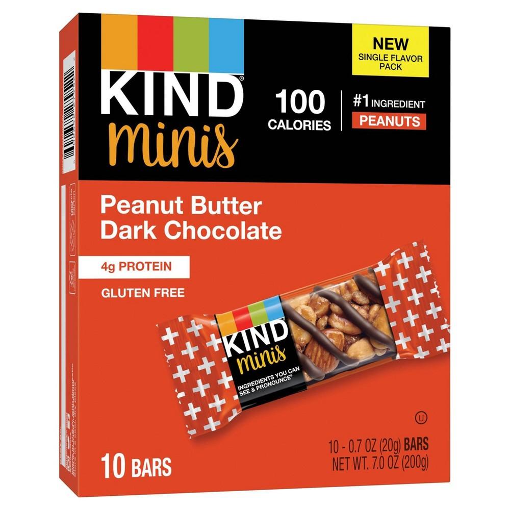 Minis, Peanut Butter Dark Chocolate, 0.7 oz, 10/Pack
