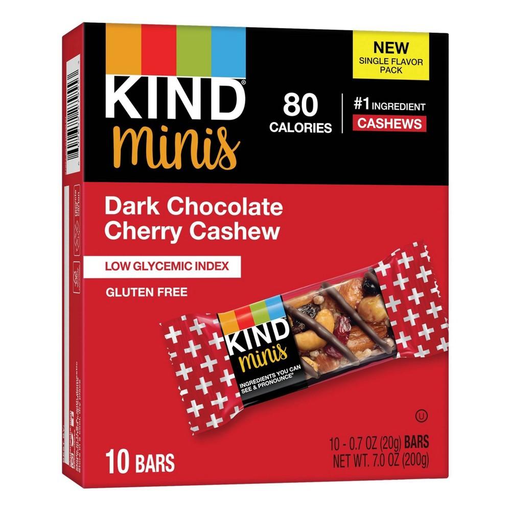 Minis, Dark Chocolate Cherry Cashew, 0.7 oz, 10/Pack