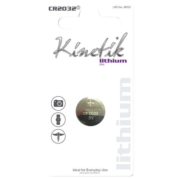 Kinetik 88133 Lithium Battery (CR2032, Single)