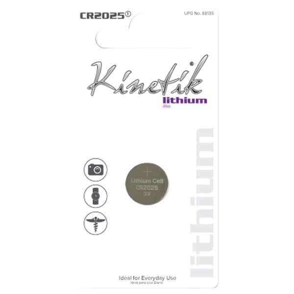 Kinetik 88135 Lithium Battery (CR2025, Single)