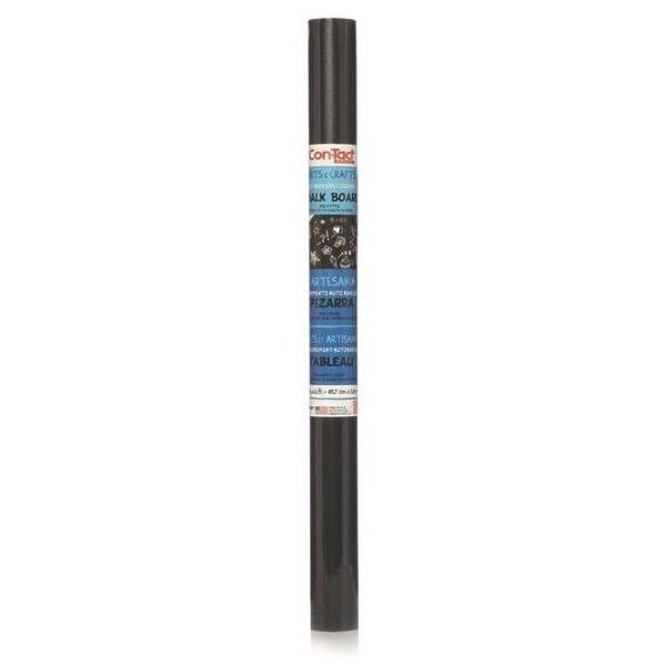 Con-Tact 06F-C9052-06 Multi-Purpose Self-Adhesive Chalk Board Liner, 6 ft L x 18 in W, Black