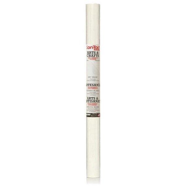 Con-Tact 06F-C9042-06 Multi-Purpose Self-Adhesive Memo Board Liner, 6 ft L x 18 in W, White