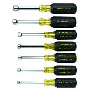 KLEIN NUT DRIVER SET CUSHION GRIP 7 PIECE