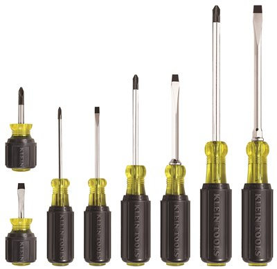 KLEIN TOOLS� 8-PIECE CUSHION-GRIP SCREWDRIVER SET