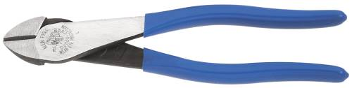 KLEIN DIAGONAL CUTTING PLIER INSULATED HIGH LEVERAGE 8-1/4 IN.