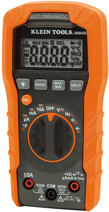 MM400 600V DIGITAL MULTIMETER