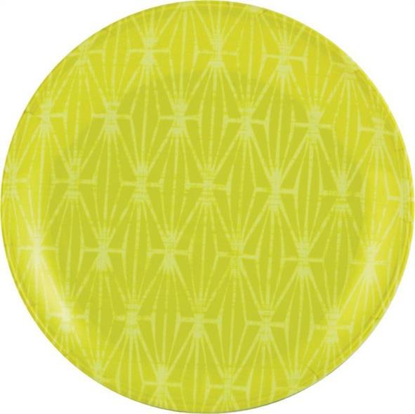 Knack3 185702I 2-Tone Salad Plate, 8 in Dia, Melamine, Green