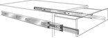 28-INCH ANOCHROME DRAWER SLIDE