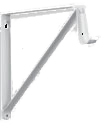 0045-B WH SHELF & ROD BRACKETS