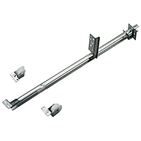 Knape & Vogt 1175P ZC 22-5/8 Light Duty Single Track Drawer Slide, 22-5/8 in L x 1 in H, 50 lb