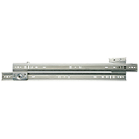 Knape & Vogt 1300P ZC 20 Medium Duty Drawer Slide, 20 in L x 3 in H, 75 lb, Steel