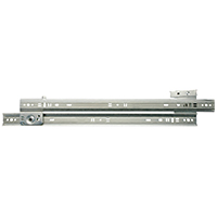 Knape & Vogt 1300P ZC 16 Medium Duty Drawer Slide, 16 in L x 3 in H, 75 lb, Steel