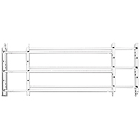 Knape & Vogt 1133 Hinged Window Guard, 24 - 42 in W x 11 in H, Solid Steel, White