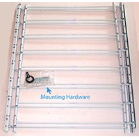 Knape & Vogt 1138 Hinged Window Guard, 24 - 42 in W x 30 in H, Solid Steel, White