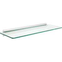 Shelf Made 89 Decorative Straight Shelf Kit, 18 in L x 6 in W, Tempered Glass