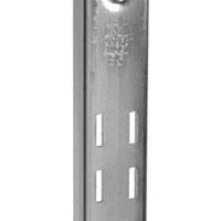 Knape & Vogt 85B ANO 72 Extra Duty Standard Shelf Bracket, 72 in L x 1-1/4 in W x 1/2 in D x 16 ga T, Steel