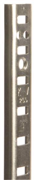 Knape & Vogt 255 Adjustable Heavy Duty Shelf Standard, 48 in L X 5/8 in W X 3/16 in D