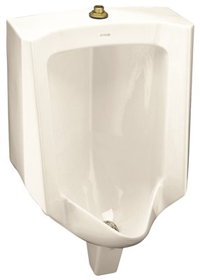 KOHLER BARDON� WASHOUT URINAL WITH TOP SPUD, BISCUIT