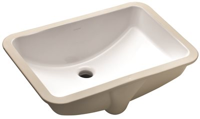 KOHLER LADENA� UNDERMOUNT BATHROOM SINK WITHOUT FAUCET HOLES, 20-7/8 IN. X 14-3/8 IN. X 8-1/8 IN., WHITE