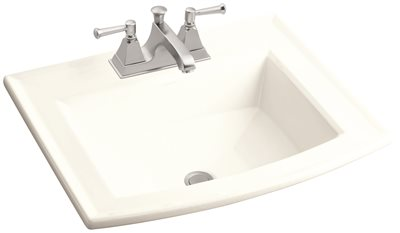 KOHLER ARCHER� SELF RIMMING BATHROOM SINK WITH 4 IN. CENTERS, WHITE