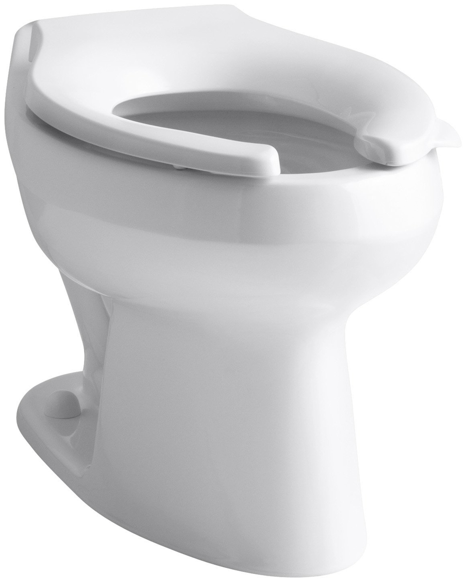KOHLER� WELLWORTH� WATERSENSE� HIGH-EFFICIENCY FLUSHOMETER TOILET BOWL ONLY  WITH 12 IN. ROUGH-IN, WHITE, 1.28 GPF