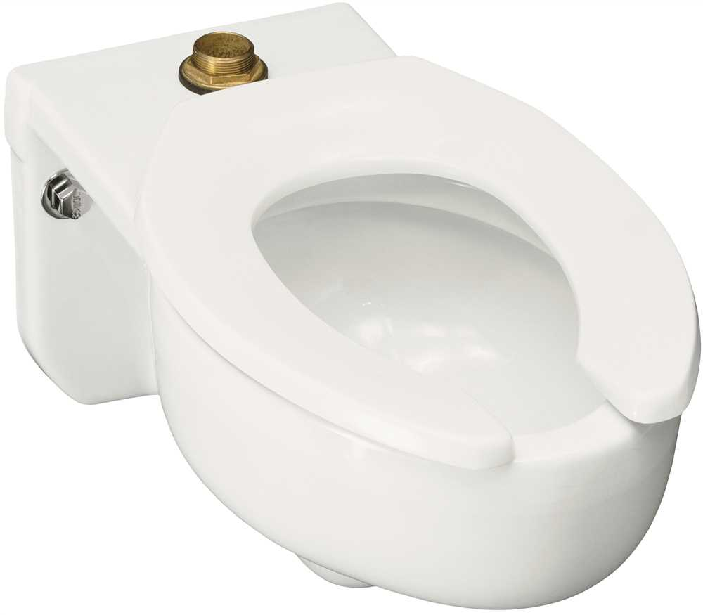 KOHLER STRATTON� WALL-MOUNTED ELONGATED TOILET BOWL WITH TOP INLET, 3.5 GPF, WHITE