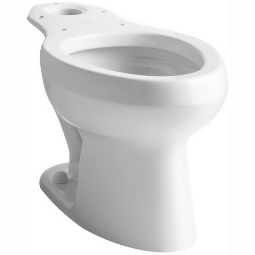 KOHLER� WELLWORTH� PRESSURE LITE� WATERSENSE�ELONGATED TOILET BOWL ONLY  WITH 12 IN. ROUGH-IN, WHITE, 1.6 GPF
