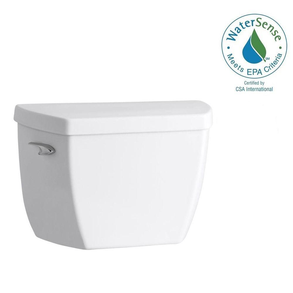KOHLER HIGHLINE� CLASSIC TOILET TANK ONLY  WITH LEFT-HAND LEVER, 1.0 GPF, WHITE