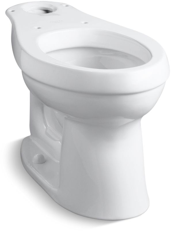 KOHLER CIMARRON� COMFORT HEIGHT� ELONGATED TOILET BOWL ONLY  WITH 12 IN. ROUGH-IN, WHITE