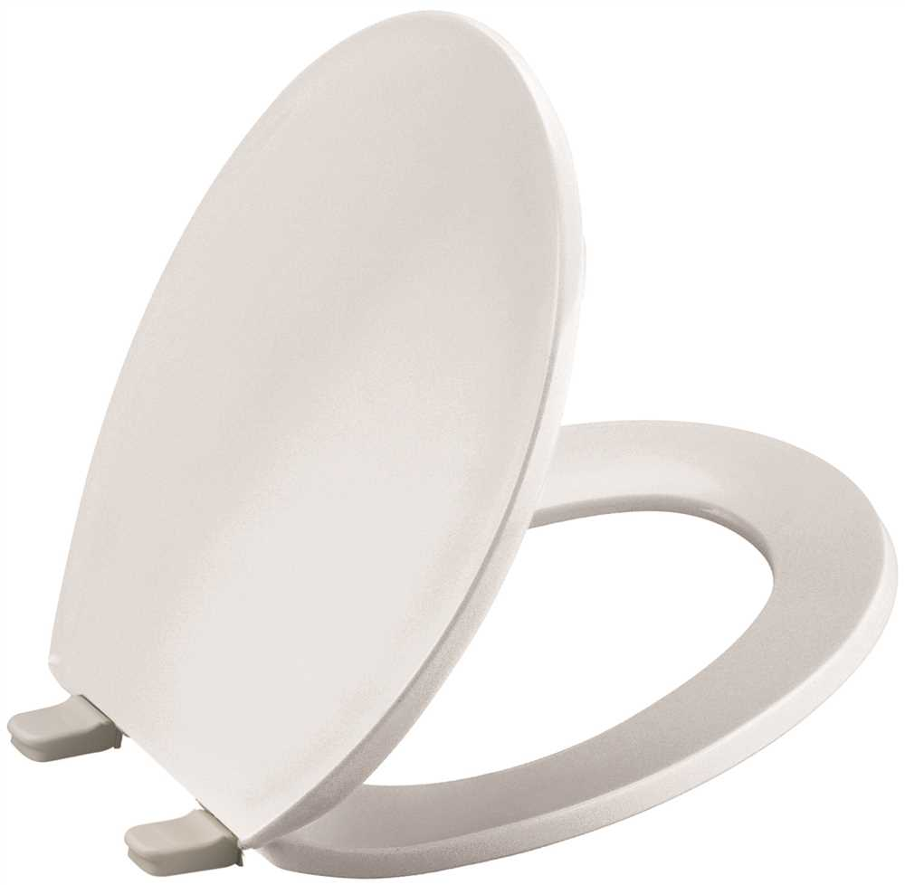 KOHLER BREVIA� ROUND TOILET SEAT WITH QUICK-RELEASE� HINGES, WHITE