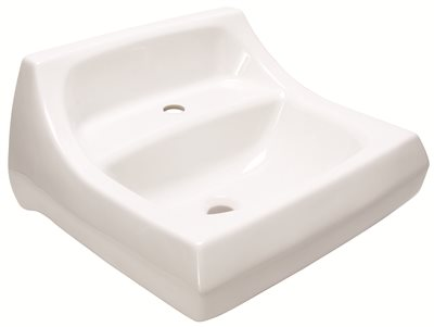 KOHLER KINGSTON� WALL-MOUNT BATHROOM SINK WITH SINGLE FAUCET HOLE, 21-1/4 IN. X 18-1/8 IN., WHITE