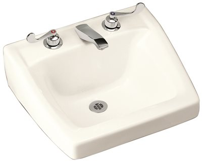 KOHLER CHESAPEAKE� WALL-MOUNT BATHROOM SINK WITH 4 IN. CENTERSET FAUCET HOLES, WHITE