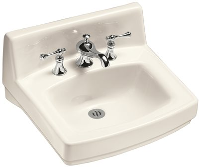 KOHLER GREENWICH� WALL-MOUNT BATHROOM SINK WITH SINGLE FAUCET HOLE, 20-3/4 IN. X 18-1/4 IN., WHITE