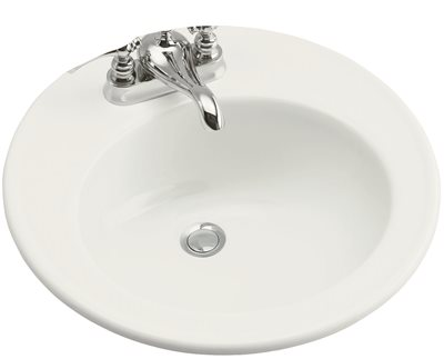 KOHLER BROOKLINE� DROP-IN BATHROOM SINK WITH 4 IN. CENTERS, 19 IN., WHITE